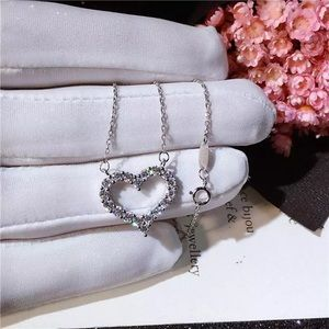 Sterling Silver Open heart Diamond Style AAA CZ